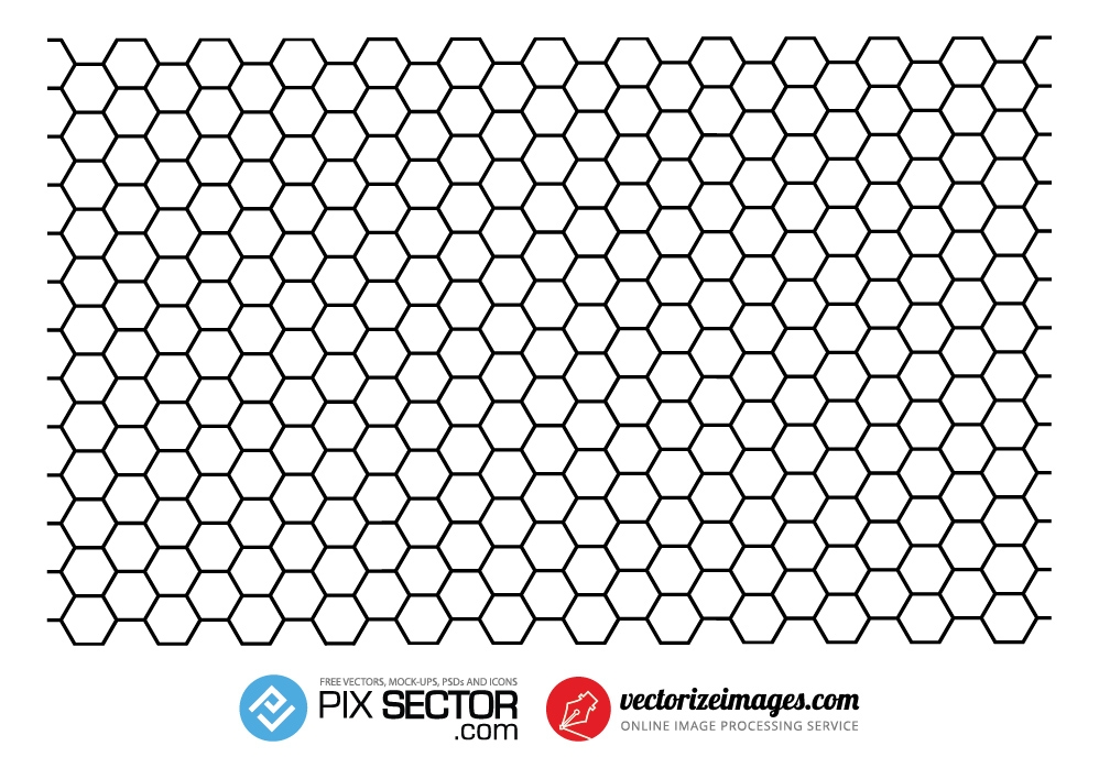 Free vector honeycomb pattern hexagon - Pixsector