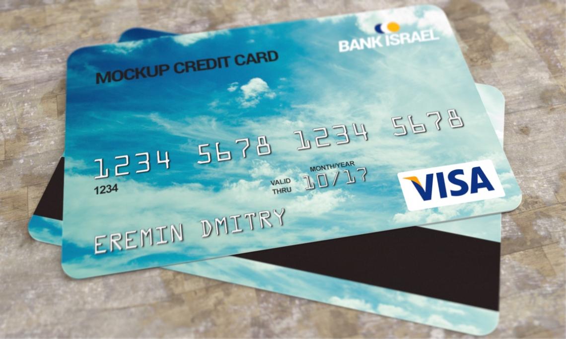 Credit Card Mockup PSD Pixsector - Visa credit card template