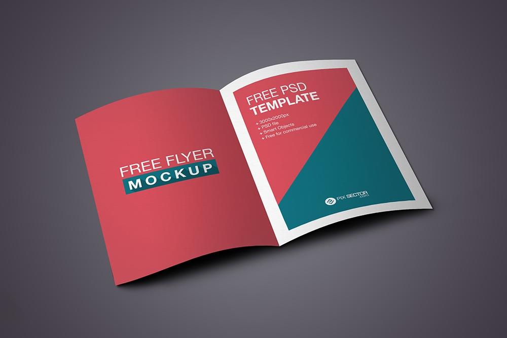 Flyer Mockup Inside Free Psd Pixsector