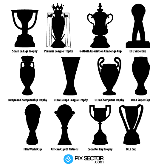 Football Trophies Vector Png