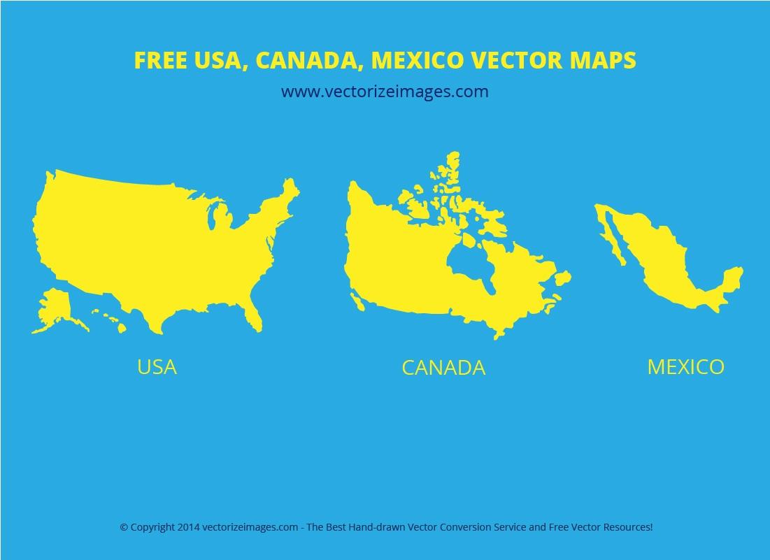 Usa Canada Mexico Vector Maps Pixsector